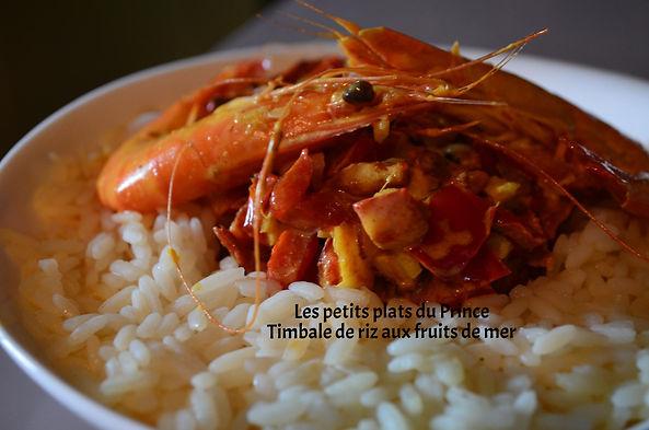 Timbale de riz aux fruits de mer