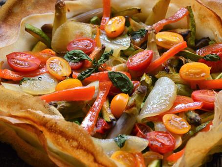 Tarte méli mélo aux légumes de printemps