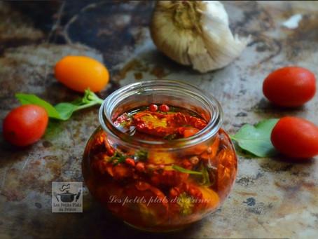 Conserves de tomates cocktail à l'huile (tomates confites)