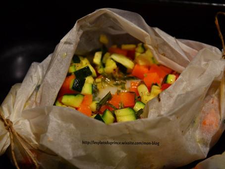 Papillote de sabre aux petits légumes