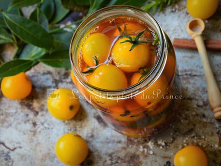 Pickles de tomates jaunes