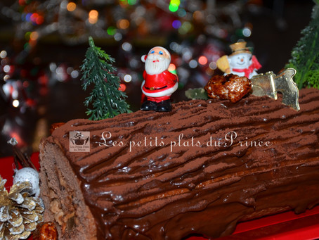 Bûche de Noël  Choco poire de Grand-maman