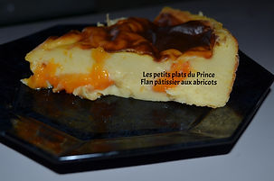 Flan pâtissier aux abricots