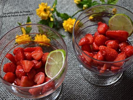 Coupe de fraises au citron vert
