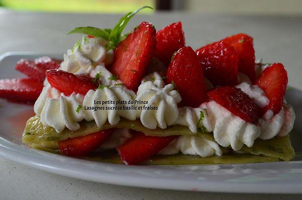 Lasagnes sucrése basilic et fraises