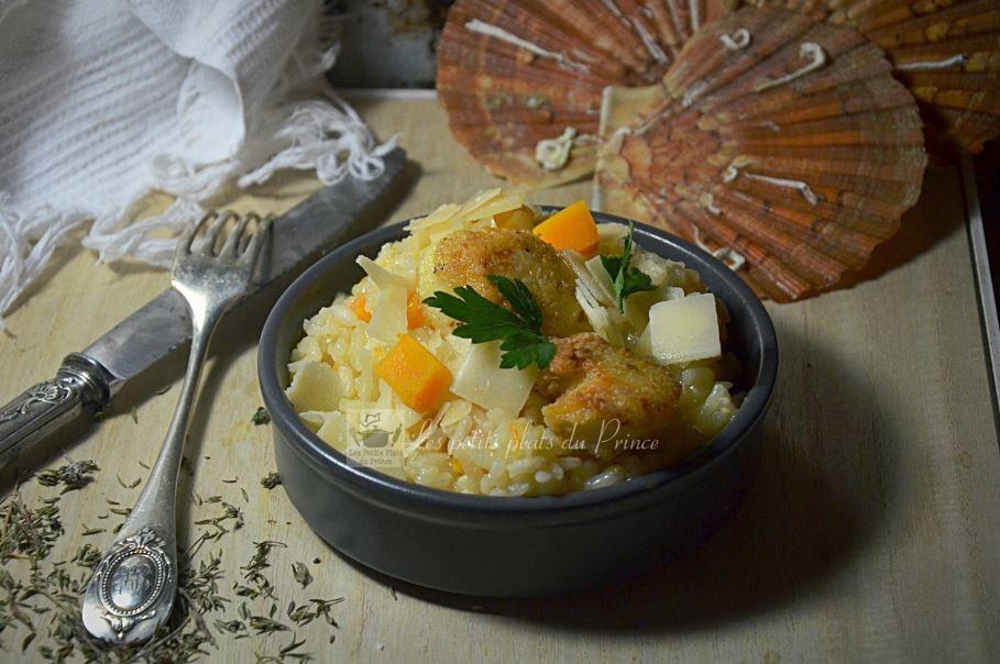 Risotto noix de St Jacques et butternut