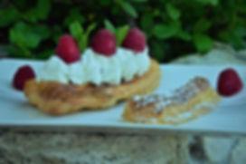 Eclair framboises crème fouettée