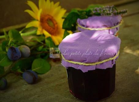 Confiture de prunes violettes et menthe