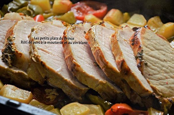 Rôti de porc à la moutarde et au vin blanc