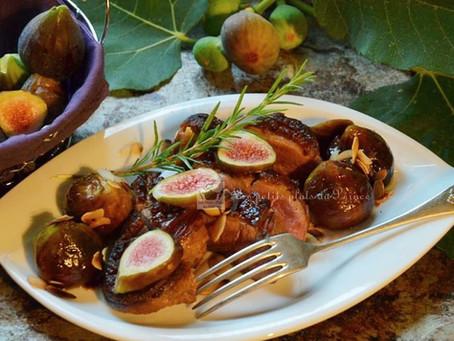 Magret de canard aux figues du jardin et au Floc de Gascogne
