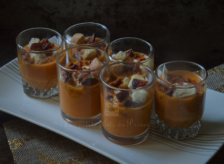 Gaspacho aux 2 poivrons et chorizo