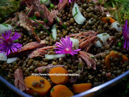 Salade de lentilles à la Gersoise