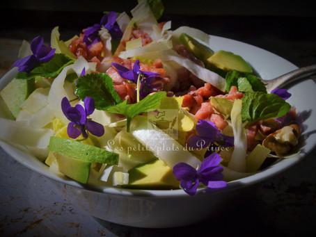 Salade printanière à la violette sauvage