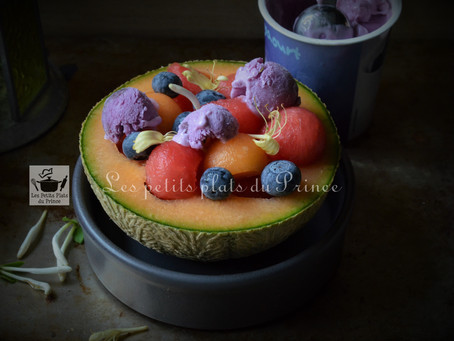 Fresh bowl : salade de melons au frozen yoghurt