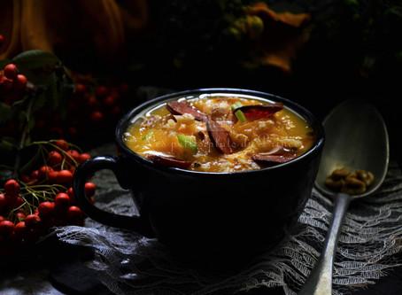 Soupe potiron et chorizo