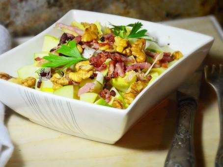 Salade d'automne aux endives et aux noix