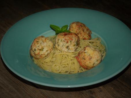 Spaghettis aux boulettes de poulet