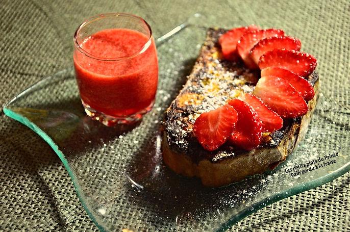 Pain perdu à la fraise