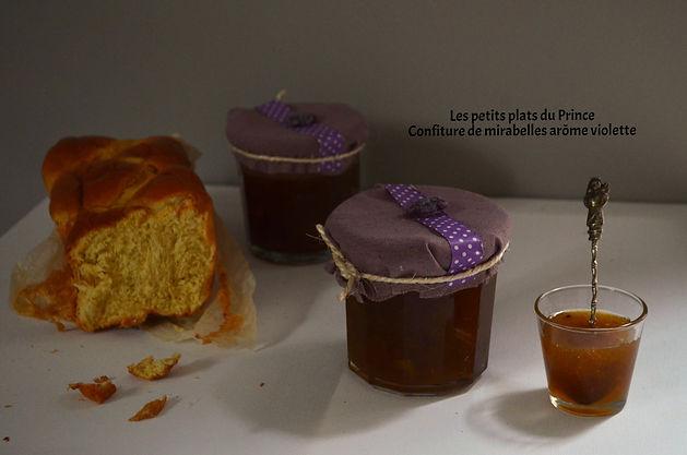 Confiture de mirabelles arôme violette