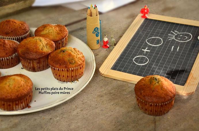 Muffin poire et mûres