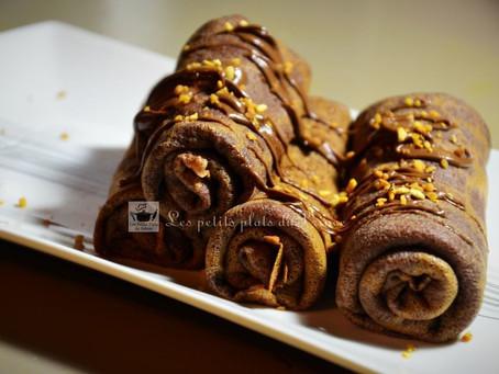 Chocolate Roll pancakes