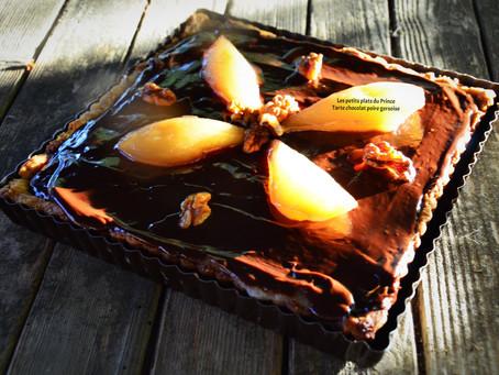 Tarte choco poire gersoise au Floc de Gascogne