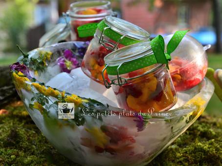 Fraîcheur de fruits en saladier éphémère en glaçon