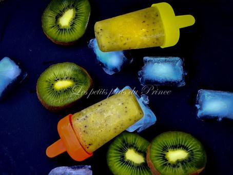 Popsicles à la purée de kiwi (pirouli, glace)