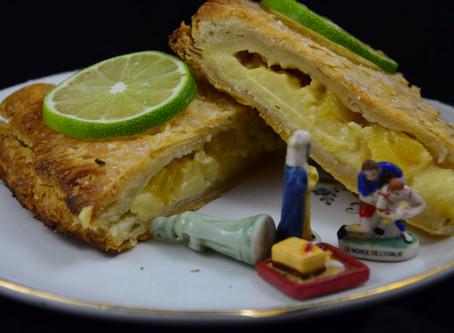 Epiphanie, la galette des Rois à l'ananas rôti, cannelle et citron vert