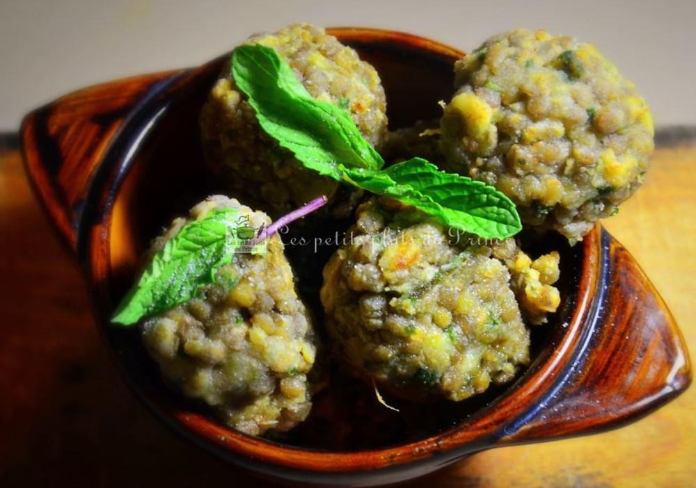 Beignets végétariennes de lentilles gingembre