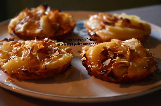 Tartelettes poire amandes