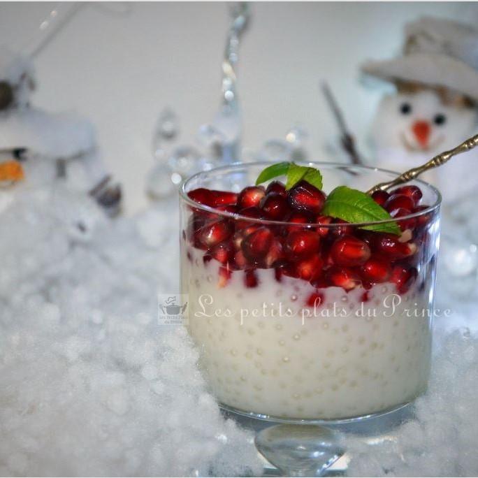 Perles du Japon au lait de coco et grenade