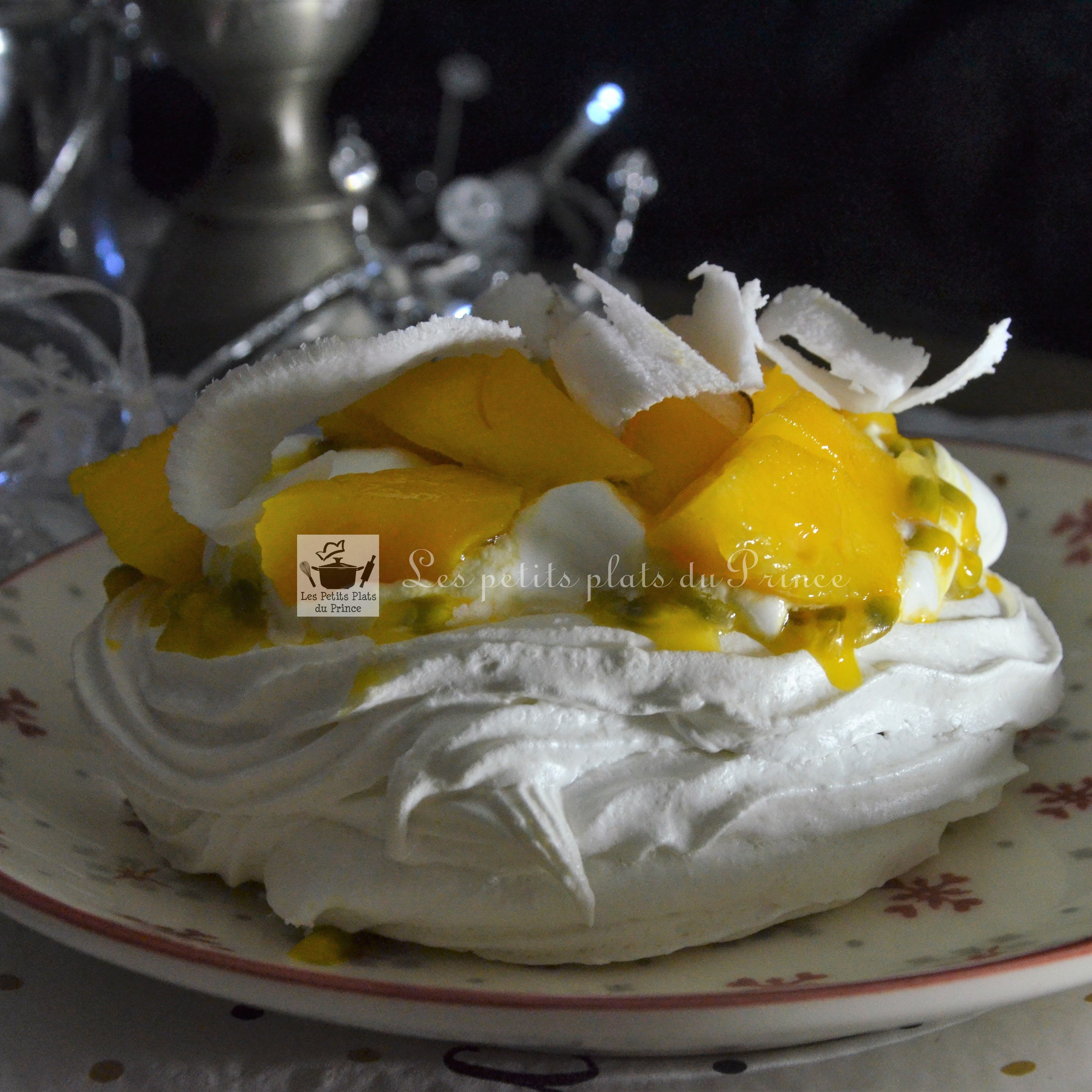 Pavlova exotique mangue fruit passio