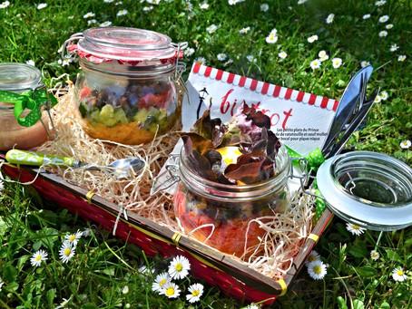 Salade Jar : ratatouille et œuf mollet en bocal