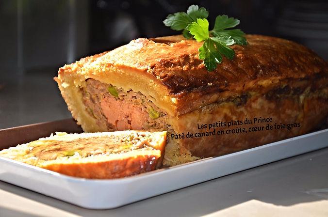 Pâté de canard en croûte, cœur de foie gras