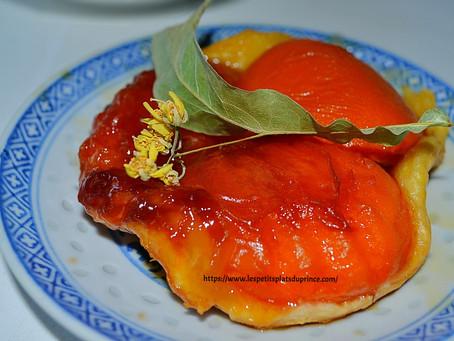 Tatin d'abricots au sirop de tilleul