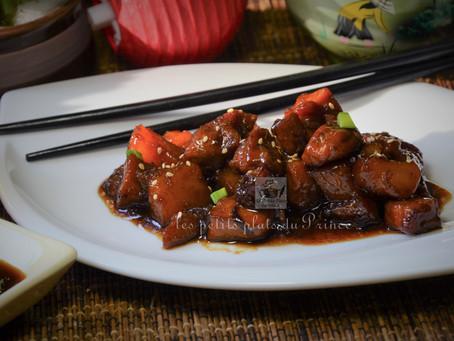 Porc au caramel et ananas pour Nouvel an chinois