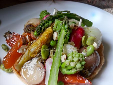 Tartelettes printanières aux petits légumes primeurs