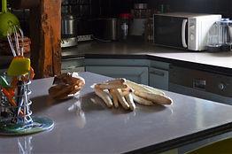 Entrée retour du marché : Oeuf mollet sur  asperges blanches
