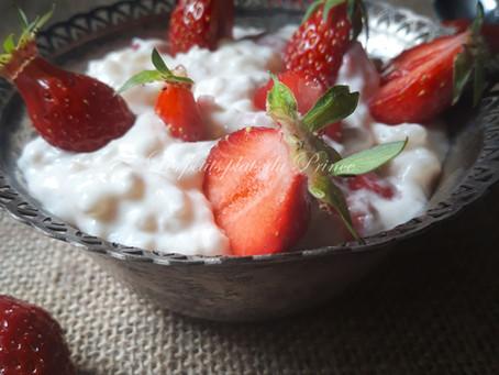 Riz condé à la fraise