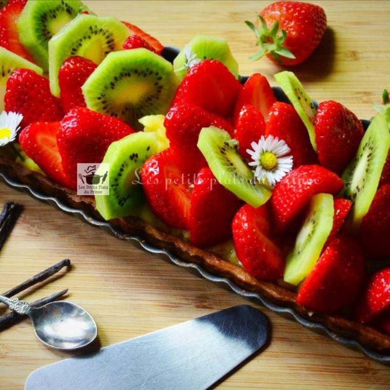 Tarte printanière kiwi fraises