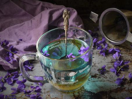 Infusion de fleurs de violettes