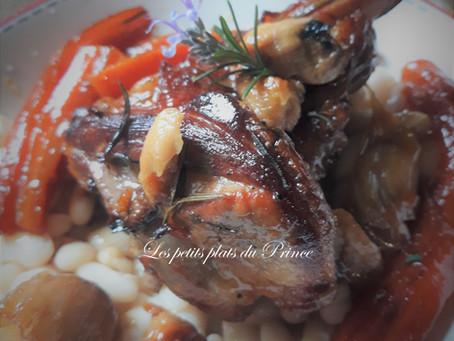 Souris d'agneau en cocotte au four, sauce au miel et épices