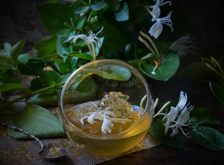 Gelée Honeysuckle (fleurs de chèvrefeuille)