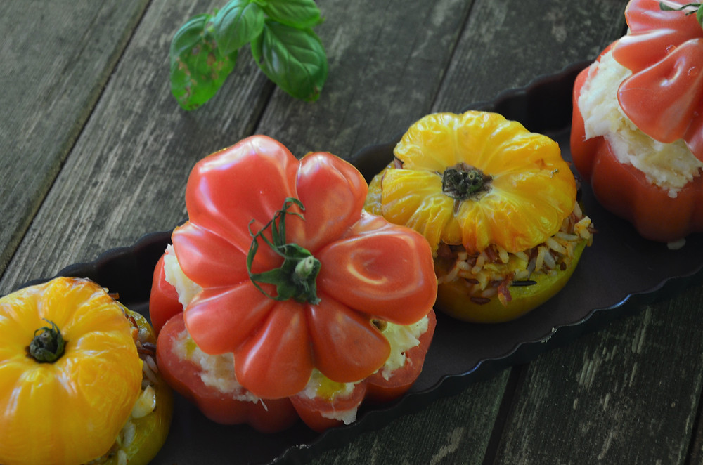 Tomates farcies à la brandade de morue
