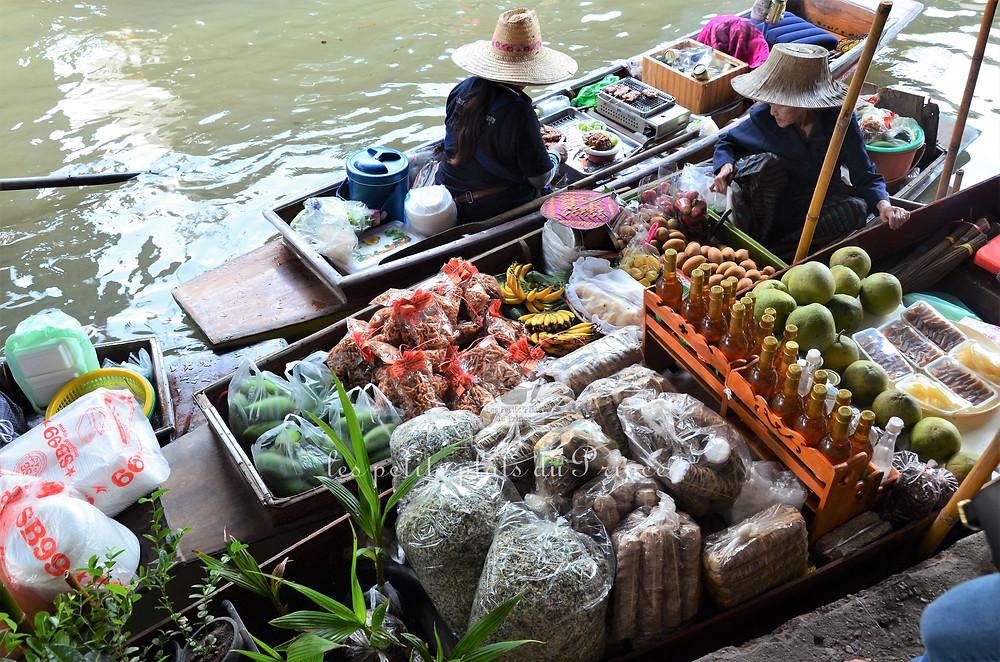 Marché flottant DAMMOEN SADUAK - Thaïlande