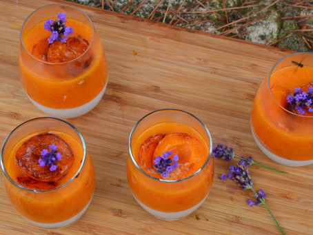 Pannacotta coco abricot lavande