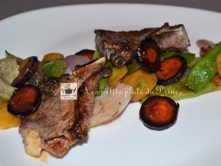 Noisettes d'agneau et légumes de saison