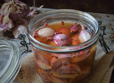 Conserve d'ail violet au vinaigre