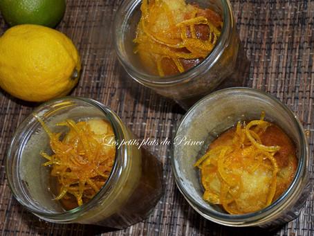 Cakes au citron confit dans un bocal